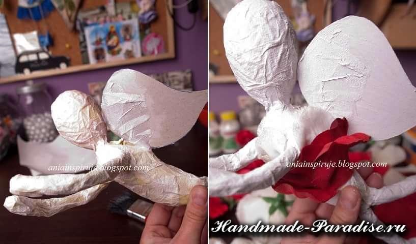 ангел из папье-маше. мастер-класс (4)
