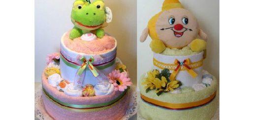 Детские торты из полотенец
