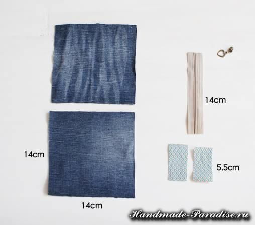 как сшить кошелек из джинсов (2)
