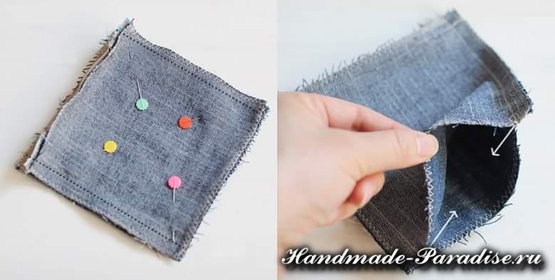 как сшить кошелек из джинсов (6)