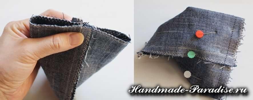 как сшить кошелек из джинсов (7)