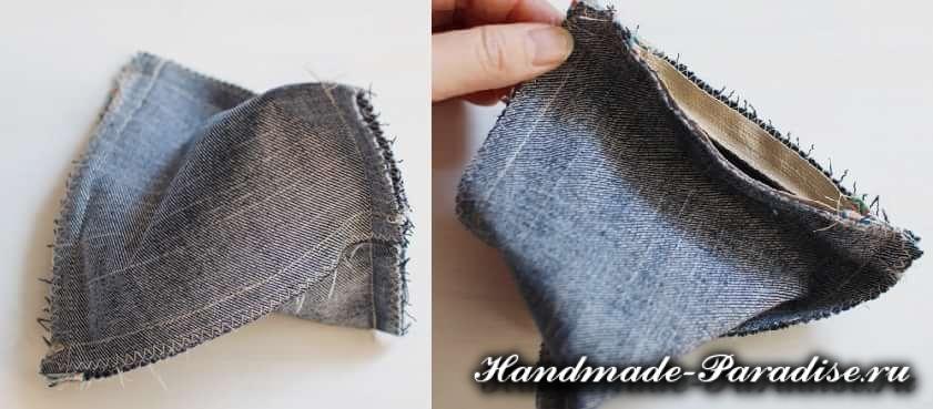 как сшить кошелек из джинсов (8)