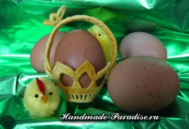 Вязание крючком корзинки для пасхальных яиц