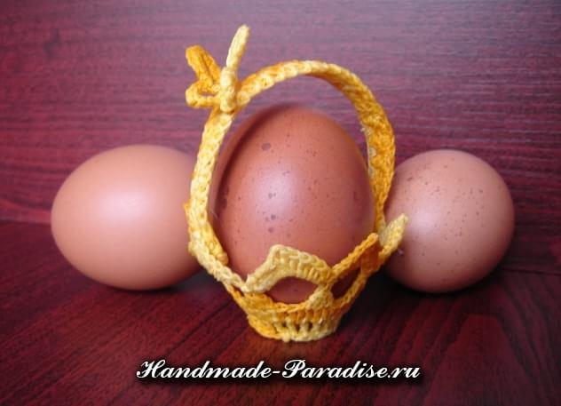Вязание крючком корзинки для пасхальных яиц (8)