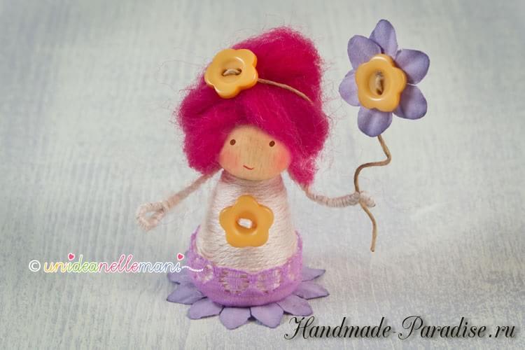 цветочные феи - Деревянные куколки своими руками (5)