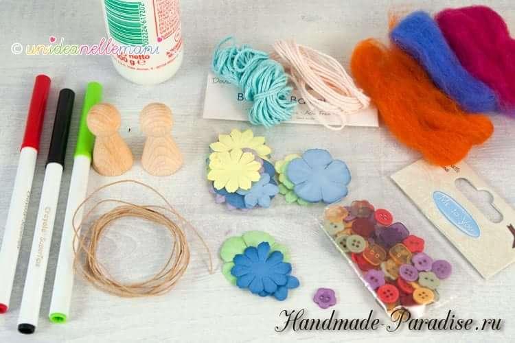 цветочные феи - Деревянные куколки своими руками (9)