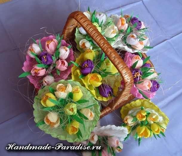 весенние цветы из бумаги (2)