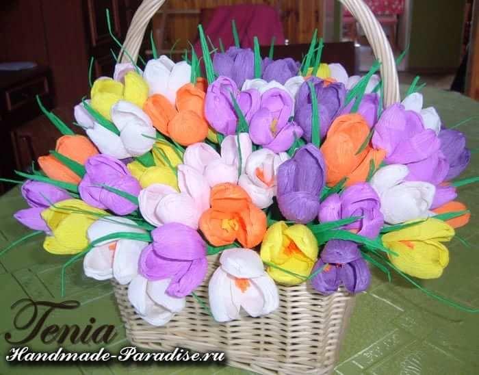 весенние цветы из бумаги (3)