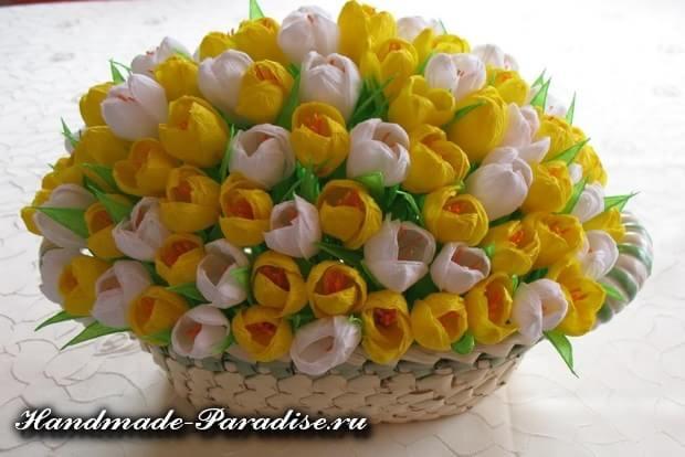 весенние цветы из бумаги (4)