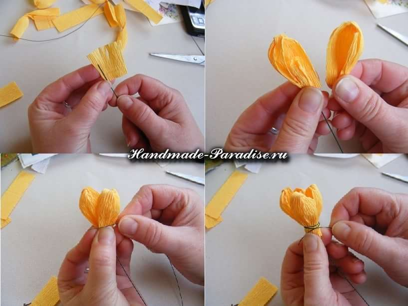 весенние цветы из бумаги (7)