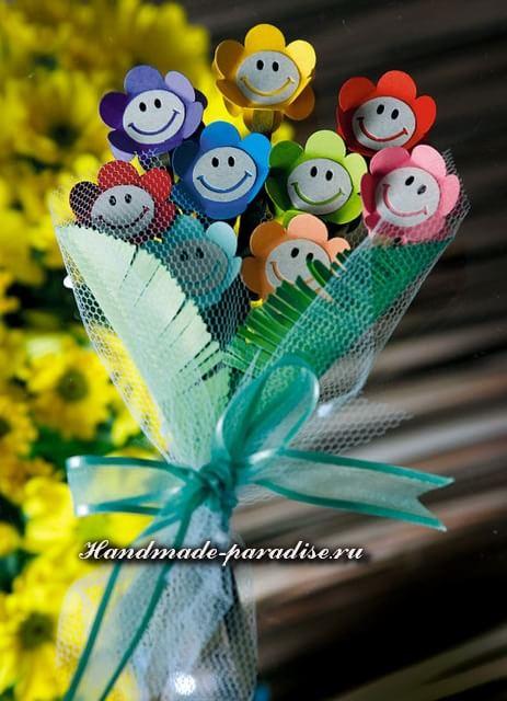 Букетик цветов из бумаги к 8 марта