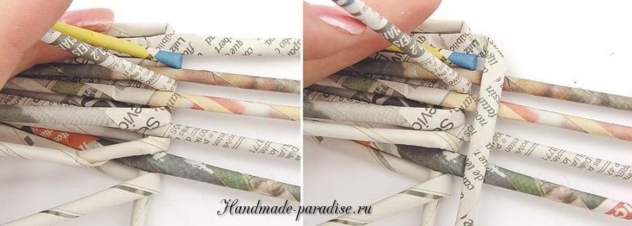 Каллы. Букет цветов из газетных трубочек (6)