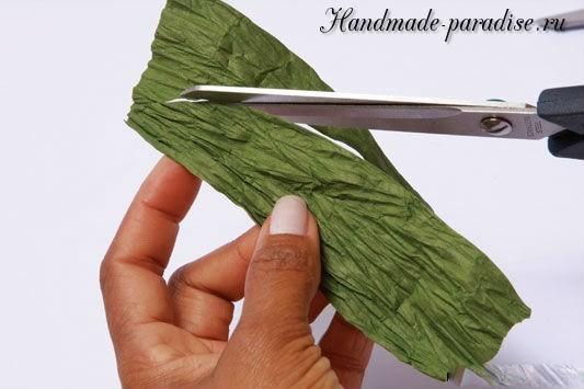 Конфетный букет из папиросной бумаги. Мастер-класс (12)