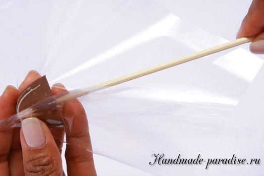 Конфетный букет из папиросной бумаги. Мастер-класс (3)
