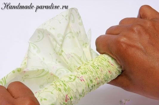 Конфетный букет из папиросной бумаги. Мастер-класс (7)