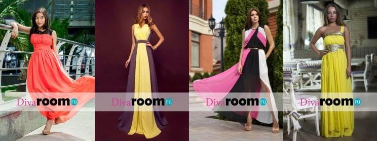 Красивые шифоновые платья от Divaroom