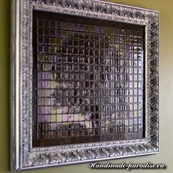 Панно из мозаики и распечатки на принтере (2)