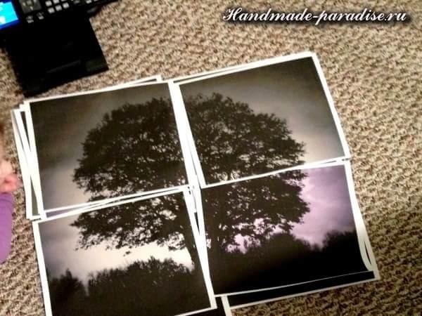 Панно из мозаики и распечатки на принтере (3)
