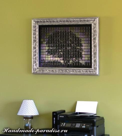 Панно из мозаики и распечатки на принтере (5)