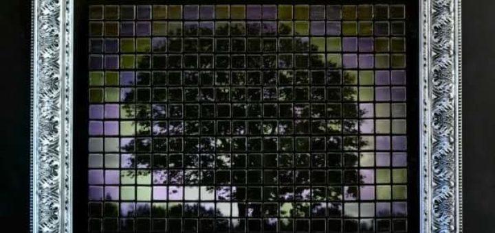 Панно из мозаики и распечатки на принтере
