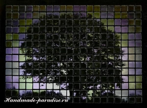 Панно из мозаики и распечатки на принтере (8)