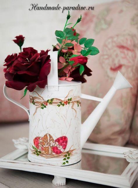 Пасхальная роспись садовой лейки (9)