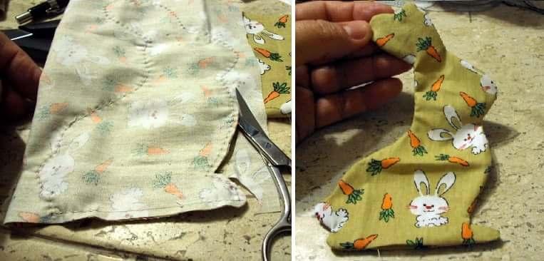 Пасхальный венок с текстильными кроликами (2)