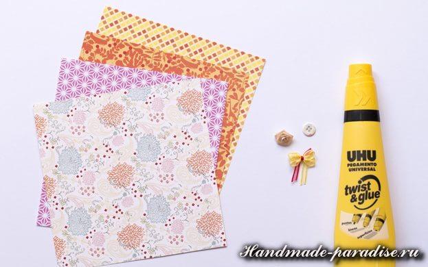 Платье из бумаги в технике оригами (2)