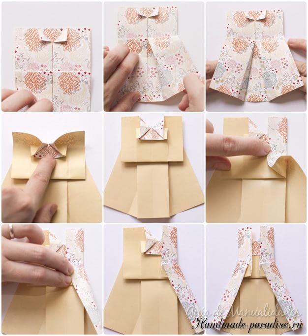 Платье из бумаги в технике оригами (6)