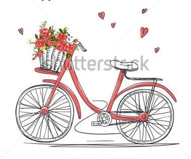 Роспись ведерка с лавандой и ретро велосипедом (13)