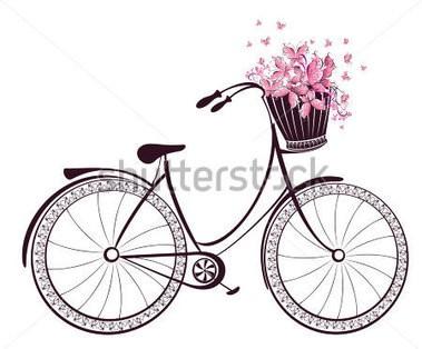 Роспись ведерка с лавандой и ретро велосипедом (14)