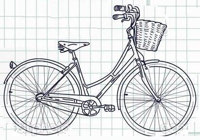 Роспись ведерка с лавандой и ретро велосипедом (15)