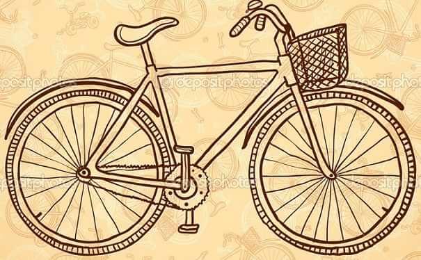 Роспись ведерка с лавандой и ретро велосипедом (16)