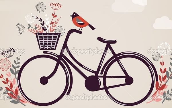 Роспись ведерка с лавандой и ретро велосипедом (17)