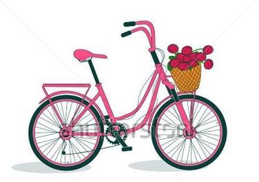 Роспись ведерка с лавандой и ретро велосипедом (18)