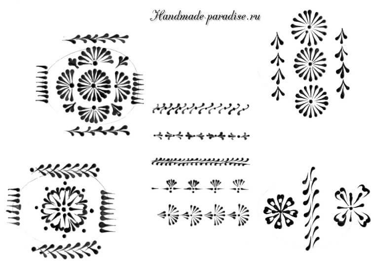 Шаблоны для росписи пасхальных яиц воском (9)
