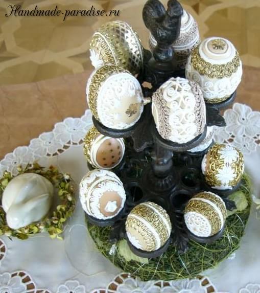 Пасхальные яйца в технике кинусайга (10)