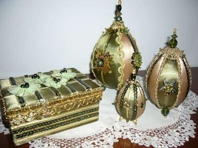 Шелковые пасхальные яйца в технике кинусайга (11)