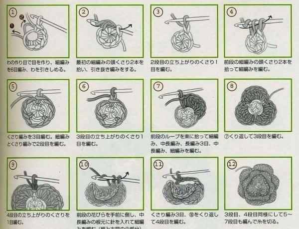 Цветочные мотивы крючком (2)