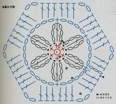 Цветочные мотивы крючком со схемами (9)