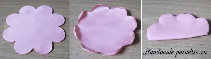 Топиарий из текстильных розочек (3)