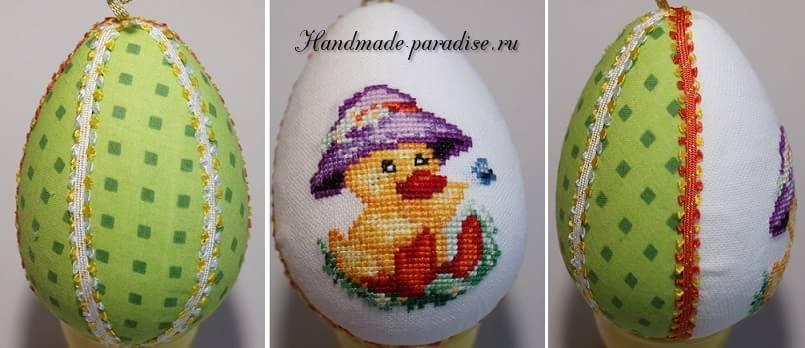 Веселые пасхальные яйца с вышивкой (10)