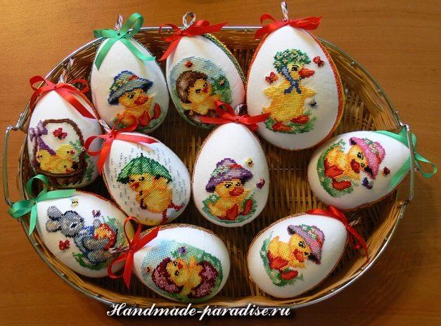 Веселые пасхальные яйца с вышивкой (11)
