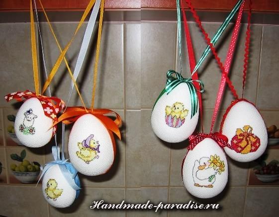 Веселые пасхальные яйца с вышивкой (13)
