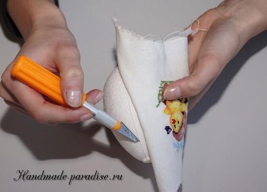 Веселые пасхальные яйца с вышивкой (2)