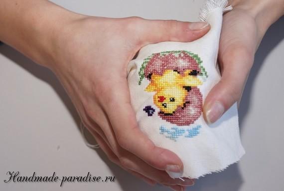Веселые пасхальные яйца с вышивкой (4)