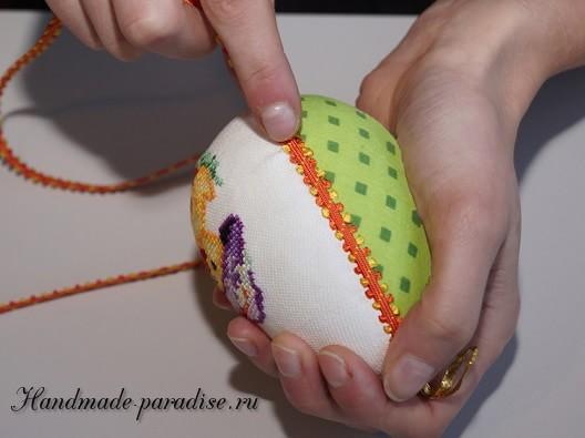 Веселые пасхальные яйца с вышивкой (8)