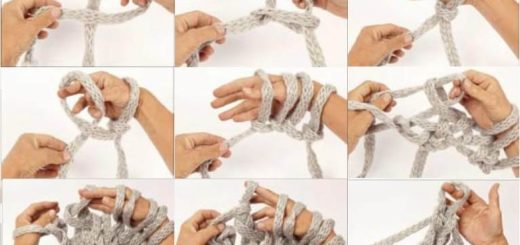 Вязание на руках и на пальцах