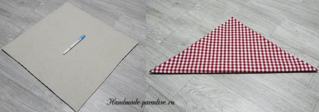 как сшить корзинку в технике оригами (5)