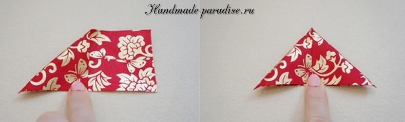 цветы из лент для украшения заколки для волос (2)